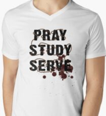 Pray Study Serve: Thorns Men's V-Neck T-Shirt