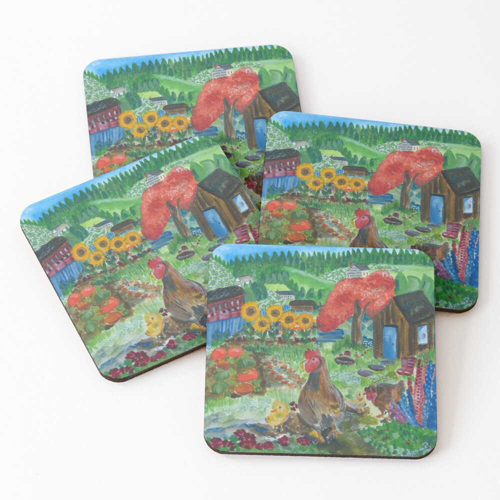 Day at the allotment Coasters (Set of 4)