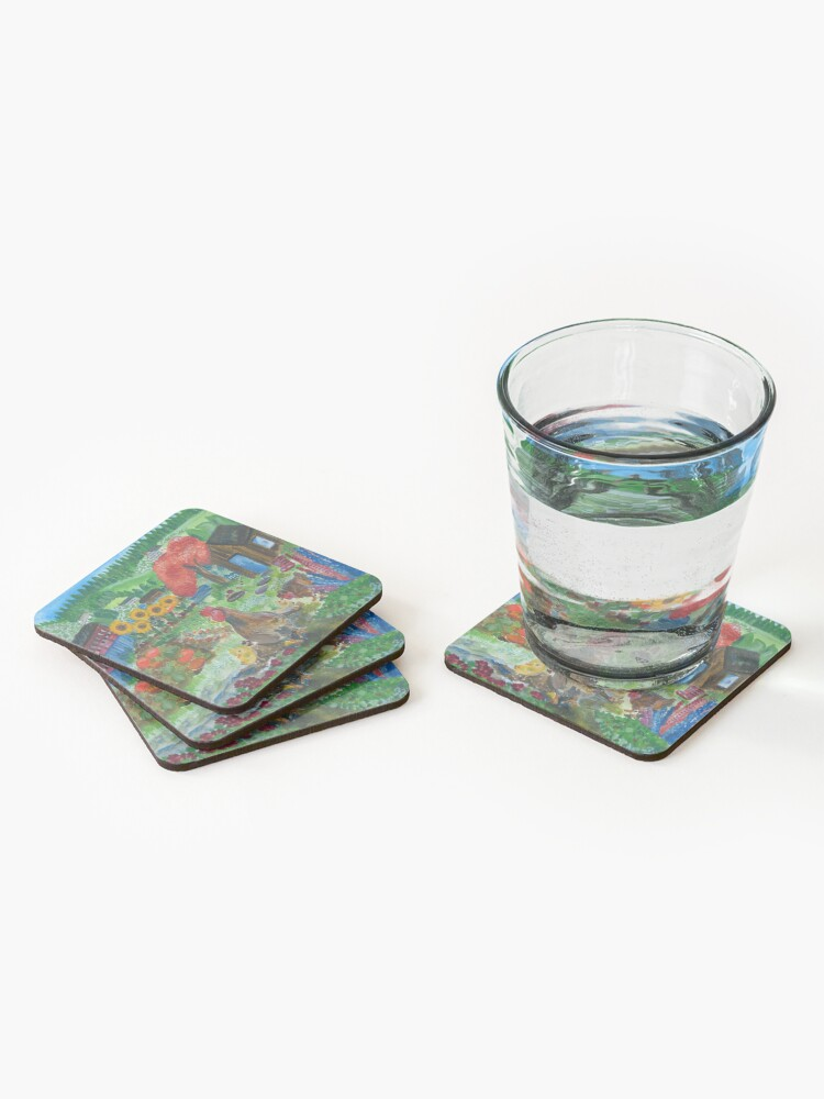 Alternate view of Day at the allotment Coasters (Set of 4)
