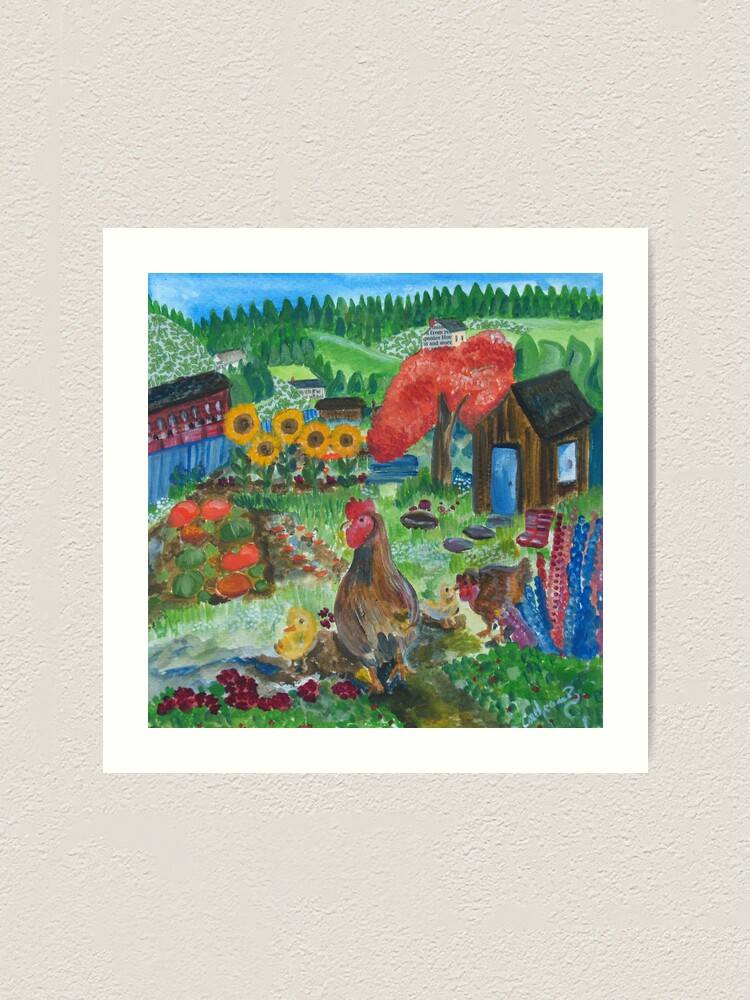 Alternate view of Day at the allotment Art Print