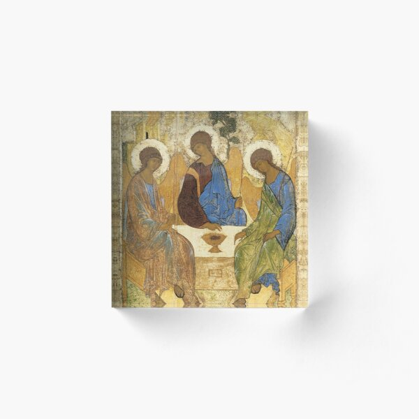 "Andrei Rublev ""The Holy Trinity"" (also called The Hospitality of Abraham) 1411 Acrylic Block"