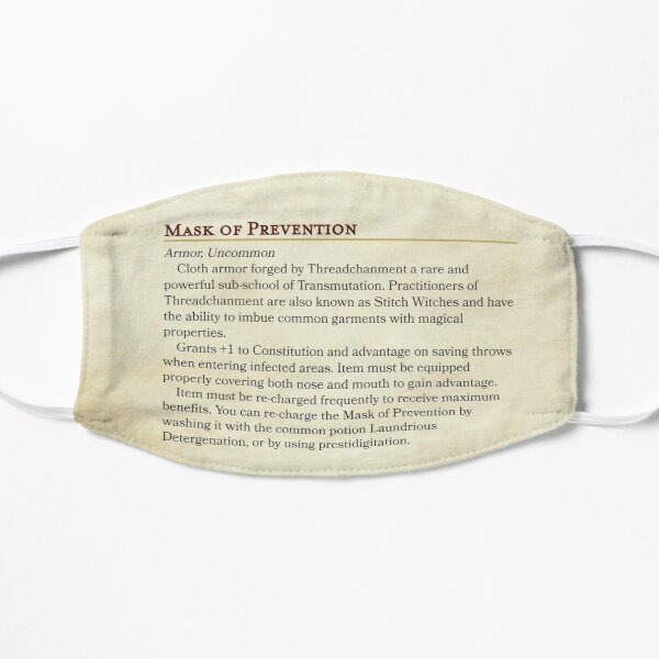 Mask of Prevention - DND Face Mask Mask
