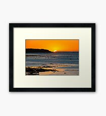 Wedge Island Sunset.. Gleesons Landing Framed Print