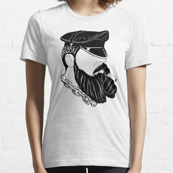 Smoking leather Daddy Dom black lines Essential T-Shirt
