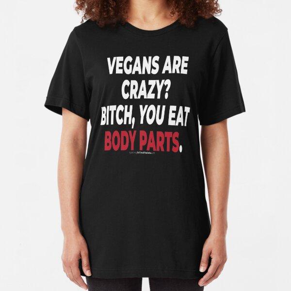 Vegan Activist Graphics #takingblindfoldsoff 83 Slim Fit T-Shirt