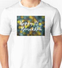 Happy Hanukkah Bokeh Lights T-Shirt