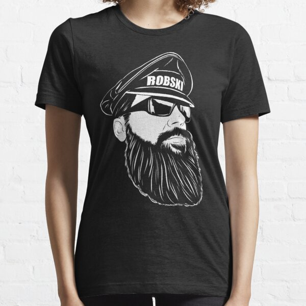 Leather Daddy Dom white lines Essential T-Shirt
