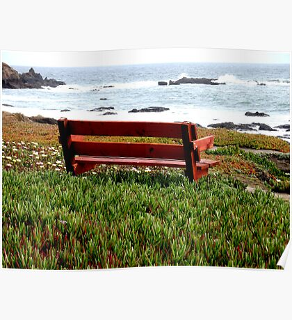 Seat For Two By The Sea Poster