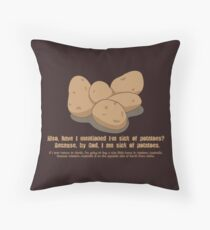 Potatoes Overdose Throw Pillow