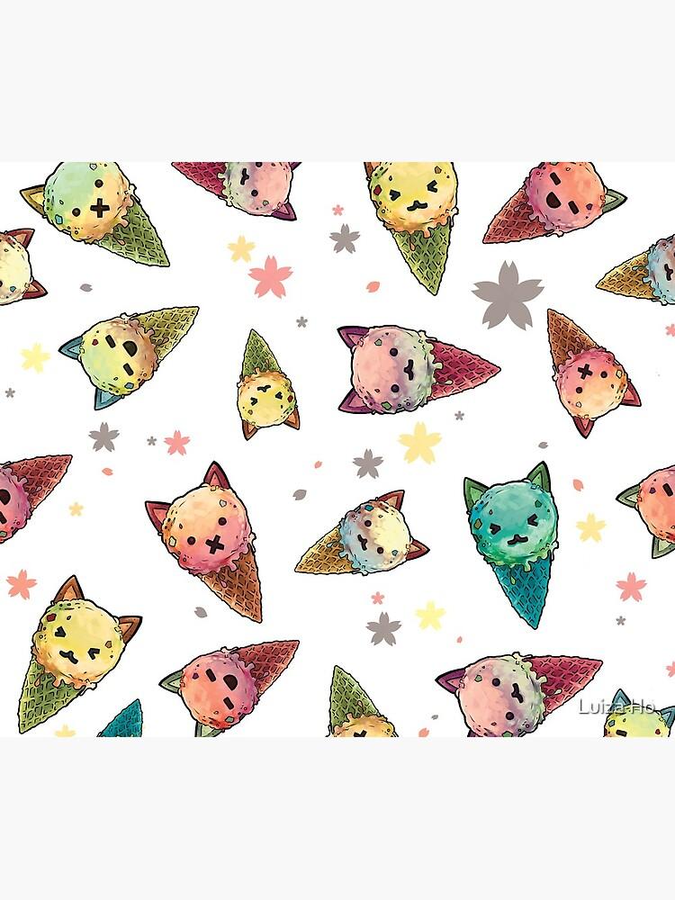 Ice cream Cat by teapotsandhats