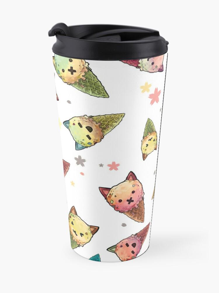 Alternate view of Ice cream Cat Travel Mug