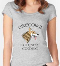 DireCorgi Women's Fitted Scoop T-Shirt