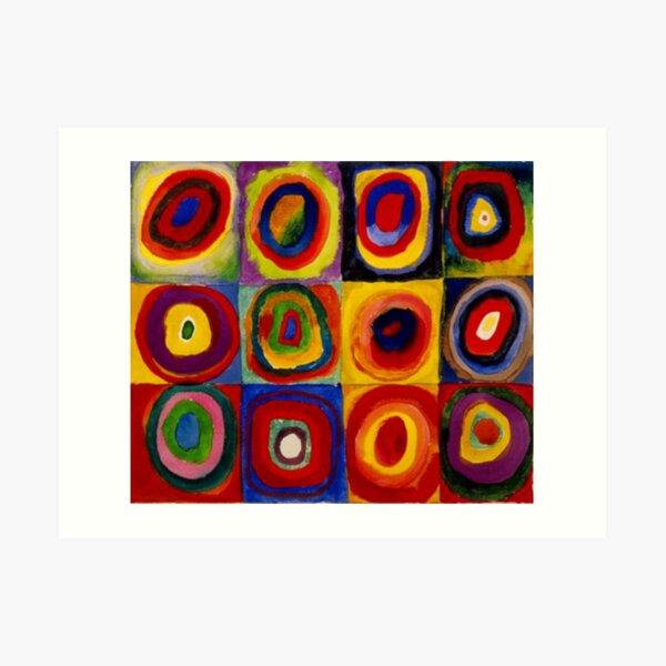 "Kandinsky - ""Squares with Concentric Circles"" | ""Kandinsky Color Study"" Art Print"