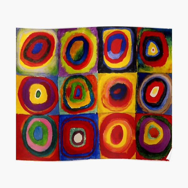 """Kandinsky - """"Squares with Concentric Circles"""" 