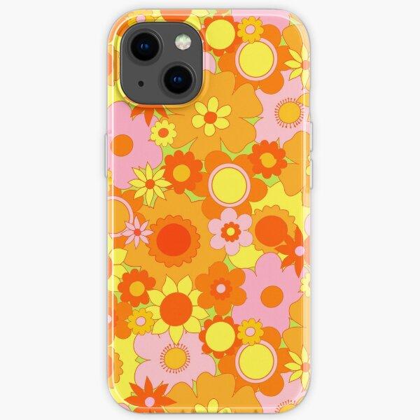Flower Power Orange - The Peach Fuzz iPhone Soft Case