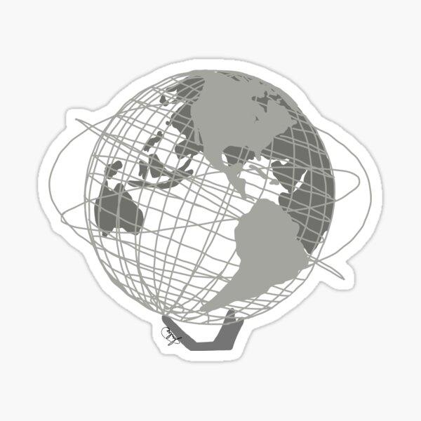 Unisphere Globe Sticker
