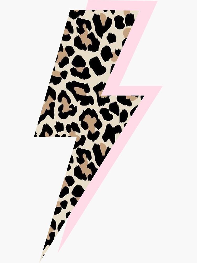 Pink and Cheetah Lightning Bolt by polkadotpiper29