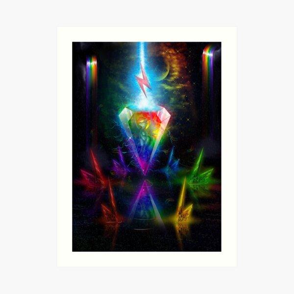 Rainbow Dash Crystallized Art Print