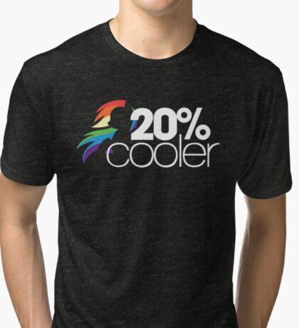 20% Cooler! (ALL options) - BLACK Tri-blend T-Shirt