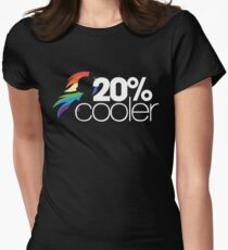20% Cooler! (ALL options) - BLACK Women's Fitted T-Shirt