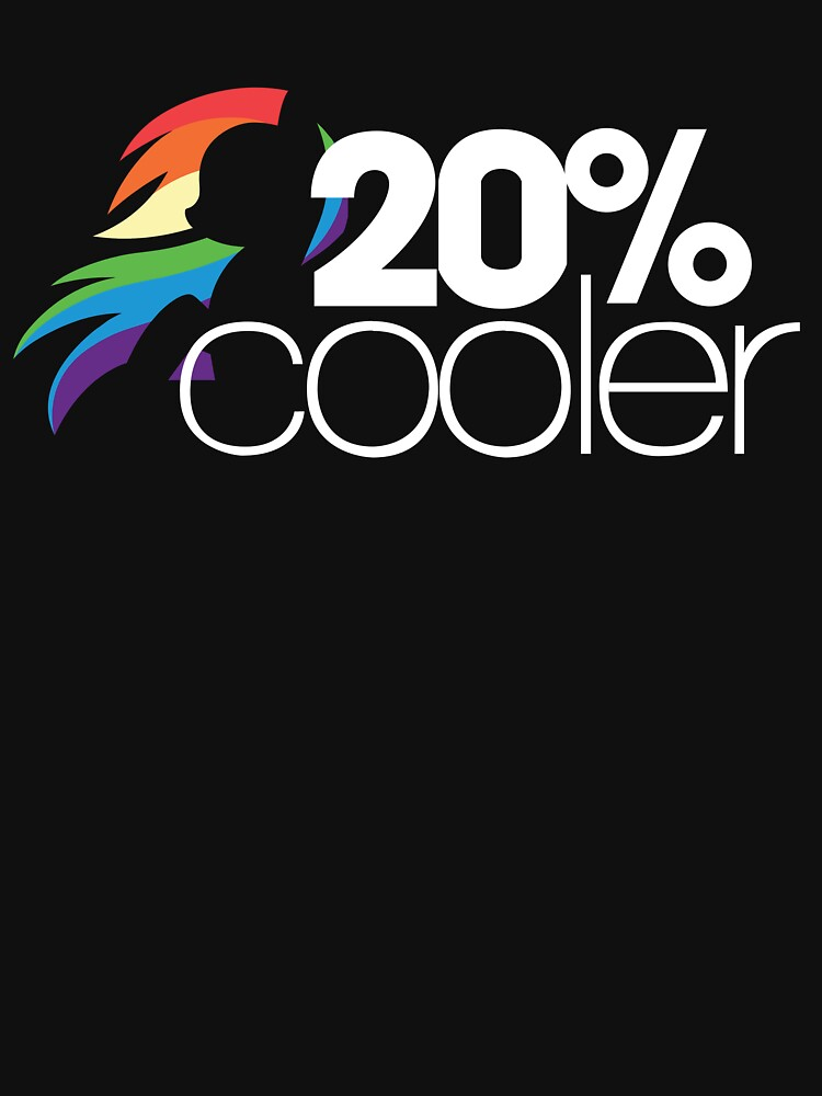 20% Cooler! (ALL options) - BLACK | Unisex T-Shirt