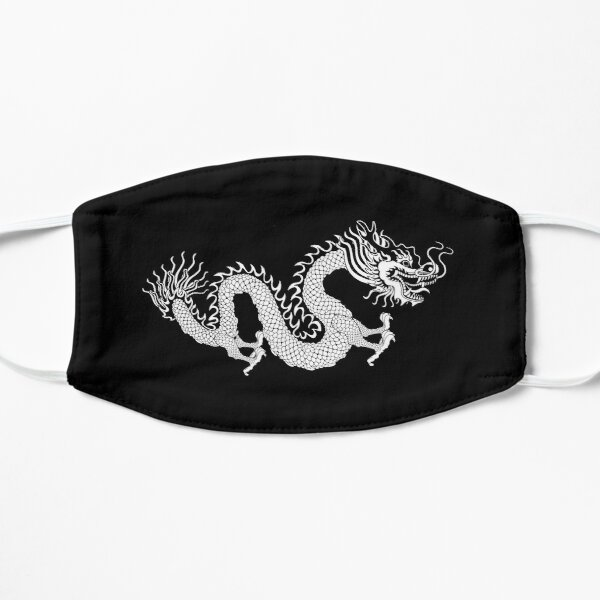 Black and White Dragon Mask