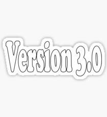 Version 3 T-Shirt 3.0 Clone Sticker Baby Shower Jumpsuit Sticker