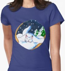 Frosty Fort Womens Fitted T-Shirt