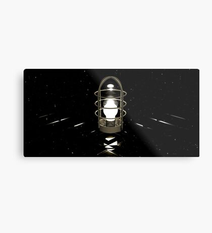 Don't believe your eyes - this is NOT a lamp! (( It's all about self-delusion... )) Metal Print