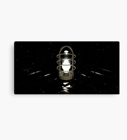 Don't believe your eyes - this is NOT a lamp! (( It's all about self-delusion... )) Canvas Print
