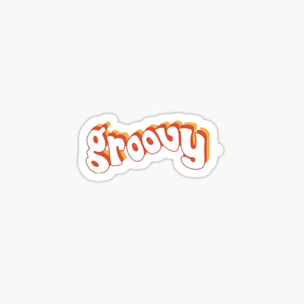 groovy text Sticker