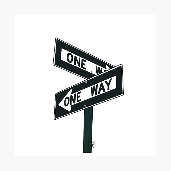One Way Street Sign Photographic Print
