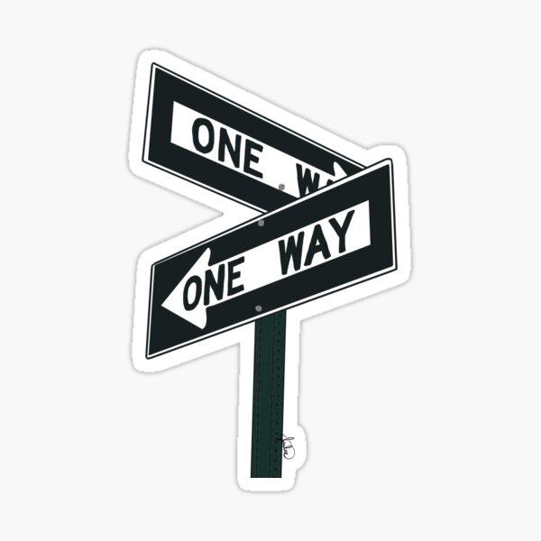 One Way Street Sign Sticker