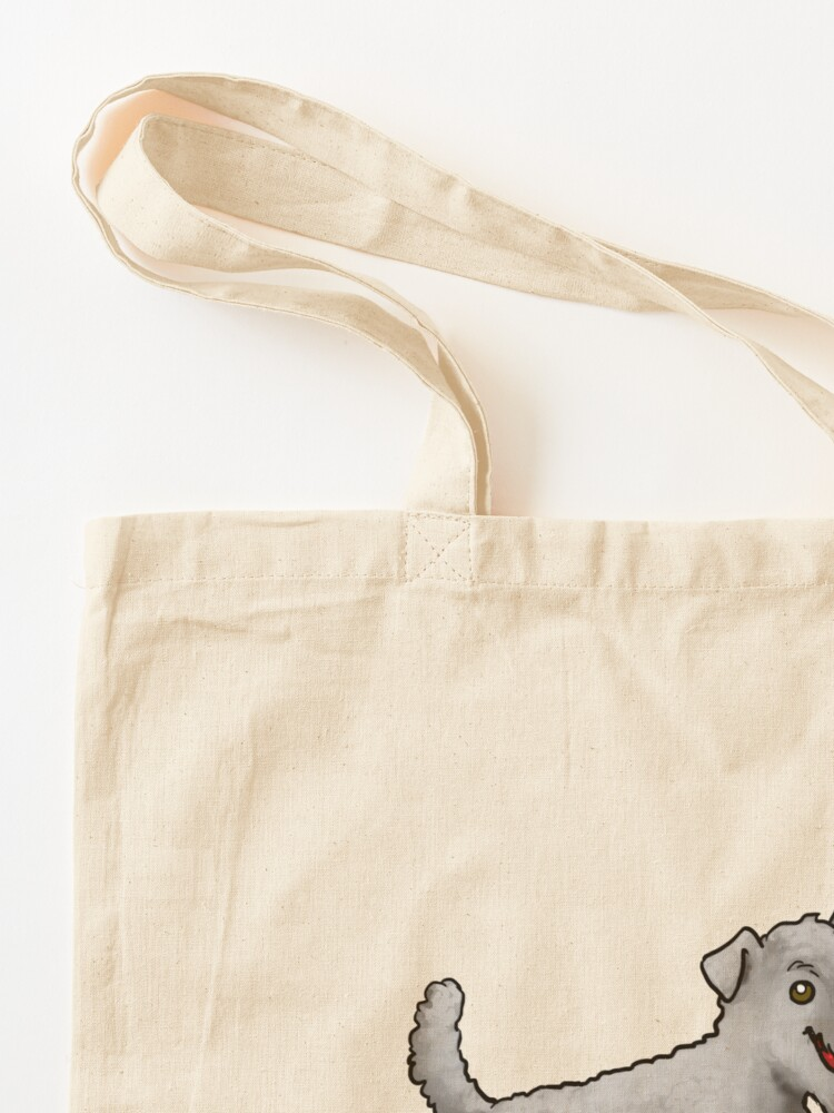 Alternate view of Kerry Blue Terrier - Gray Tote Bag