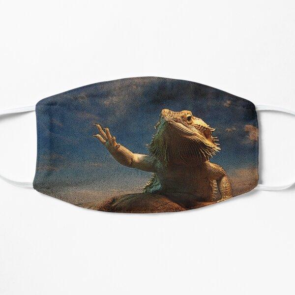 Waving Bearded Dragon Flat Mask