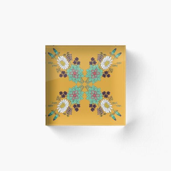Golden Spring Acrylic Block