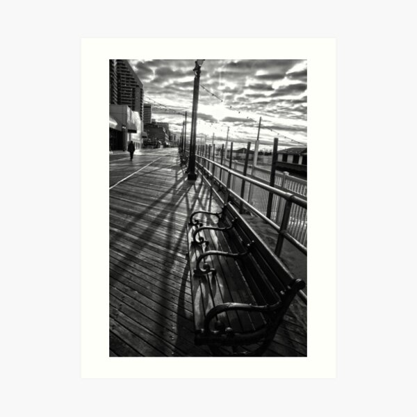Boardwalk in Atlantic City Art Print
