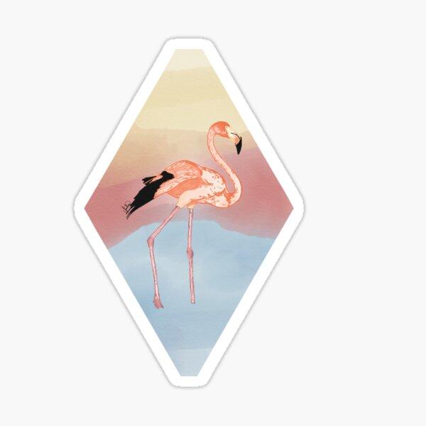 Flamingo Sunset Sticker