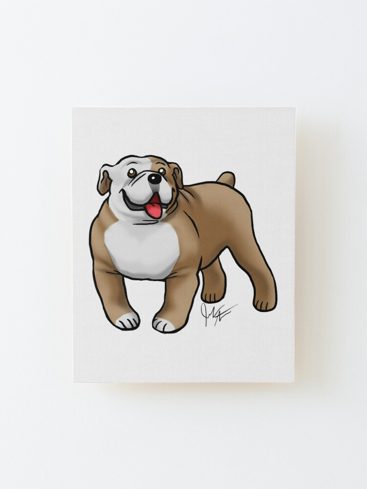 Alternate view of English Bulldog - Fawn and White Mounted Print