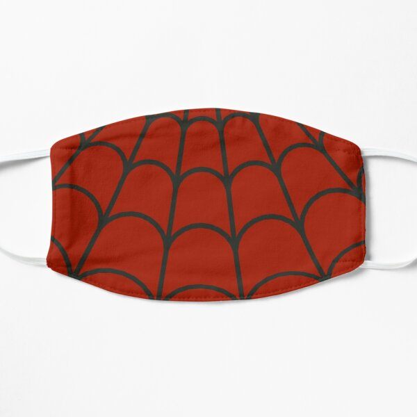 Red And Black Spider Web Print Face Mask Mask