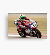 Davide Giugliano at Miller Motorsports park 2012 Canvas Print
