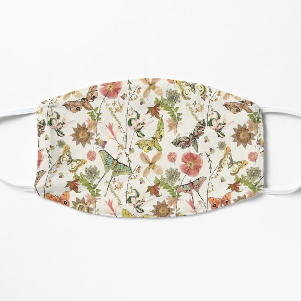 Moths and Wild Flowers Flat Mask