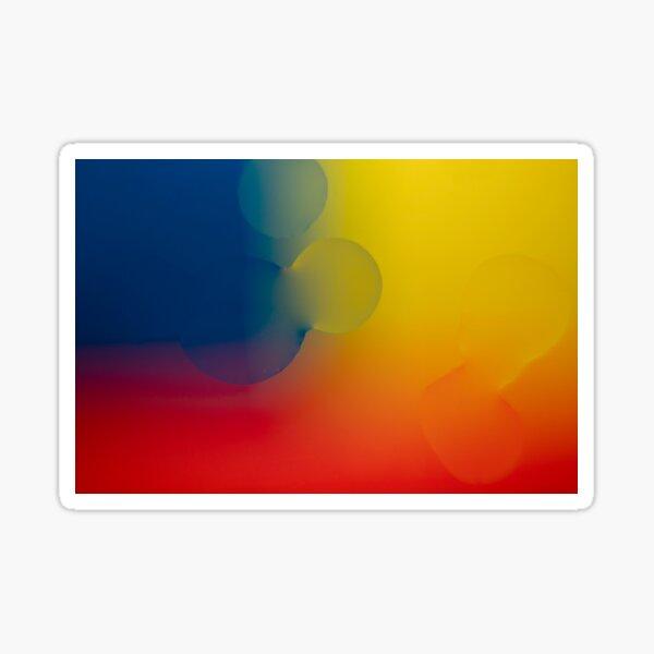 Rainbow Waterdrop Abstract Sticker
