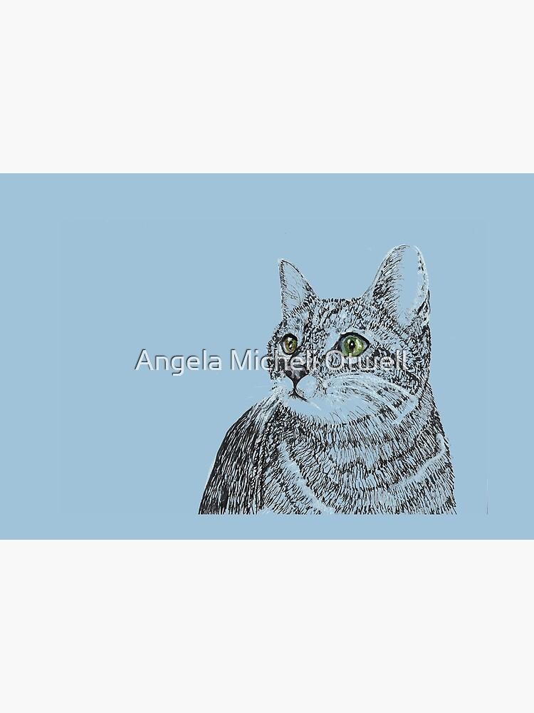 Cat on Blue by ByFitsAndStarts