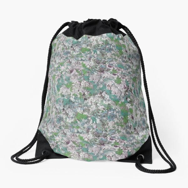 Mossy Lichen Drawstring Bag