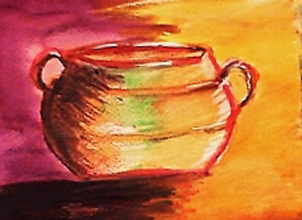 The Brass pot. watercolor by Anna  Lewis, blind artist