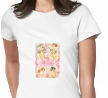 Vintage Cherubs and Angels Womens Fitted T-Shirt