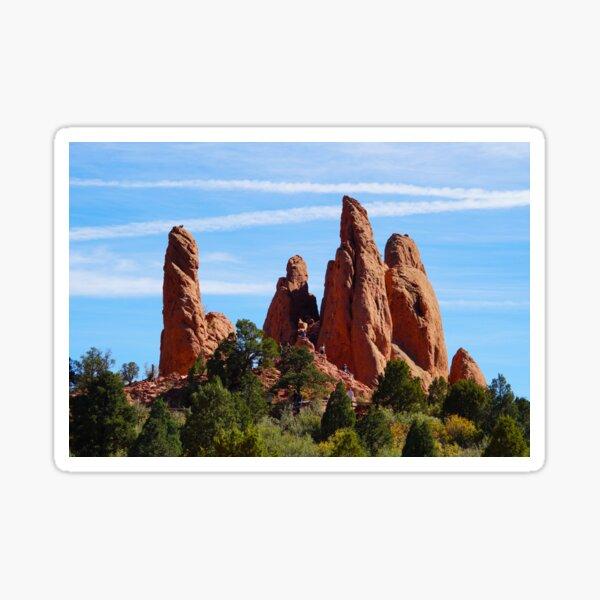 Rock Sculptures in Garden of the Gods Sticker