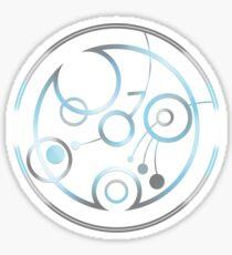 Demiboy in Circular Gallifreyan (w/ symbol) Sticker