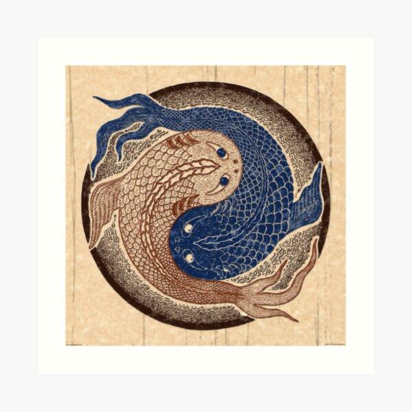 yin yang fish, shuiwudao mandala Art Print